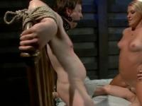 Bisexual porn with a tied guy getting fucked