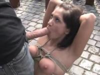 European Lea Lexis taking part in close-up porn