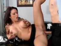 Playgirl with hot big titties is acting in hardcore porno in office