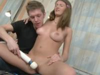 European young Faina with hot bubble-butt is acting in buttfucking action