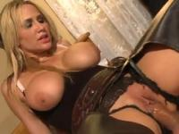 Milf with hot big melons is acting in hard core xxx action