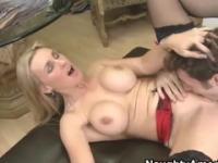 Mom with hot hooters in hard fuck porn video
