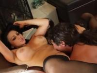 Milf with hot large breasts in hardcore porn scene