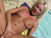 Milf taking part in hardcore sex movie in outdoor