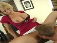 Brianna Beach with hot big melons taking part in porn video