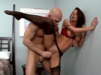 Milf with hot boobies is acting in hard fuck porn action