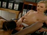 Sweet uniform lesbi sex action in office