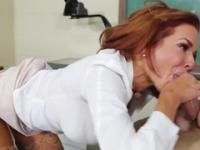 Mature taking part in hard core porno in office