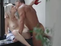 European playgirl Denni in hard core sex movie