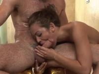 Milf Mia Lelani with hot big titties in dick sucking sex action
