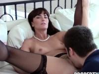 Deep-throat european amateur Bianca Breeze taking part in blowjob porno action