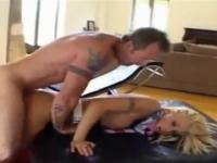 Britney Skye with hot round ass is acting in butt fuck porno action