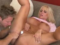 Aged female Karen Fisher with hot fat ass in hard fuck porno