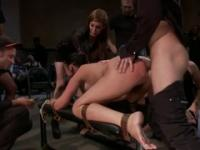 Meaty slut is tied and fucked from behind