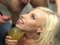 Brittany Amber in lovely jizz flow group porn action