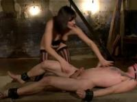 Milf is acting in fem-dom xxx action