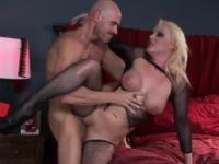 Busty blonde bitch gets fucked hard