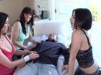 Jennifer Dark, Daisy Cruz and Brandy Aniston in hot hard fuck group porn