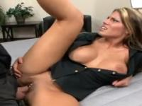 Charisma Cappelli with hot huge melons is acting in hardcore porno video