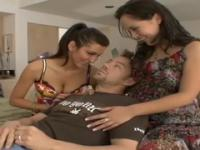 Kristina Rose and Princess Donna in sweet threesome group sex xxx action