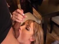 Milf with hot big melons in cock sucking porn action