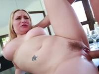 Milf with hot boobs in hardcore porn action