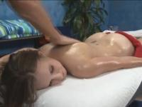 Legal age Luci with hot gazoo in massage porn scene