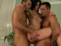 Renato, Tony and Kristine Crystalis in marvelous amateur group adult video