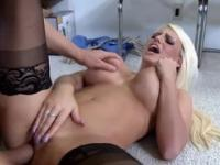 Milf with hot huge melons is acting in hard core porn in office