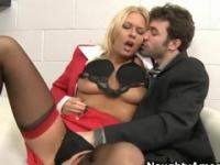 Milf in cock sucking sex video in office