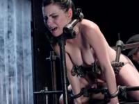 Brunette Veruca James in bondage action