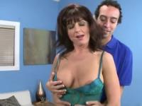 Brunette mature is acting in porn scene
