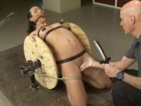 Brunette Wenona Bound taking part in bondage sex video