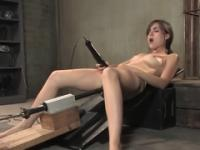 Brunette Sasha Grey in masturbation xxx action