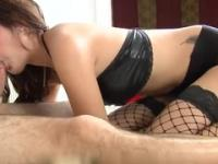 Oriental brunette is acting in xxx action