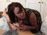 Brunette aged female Vanessa Videl taking part in porn action