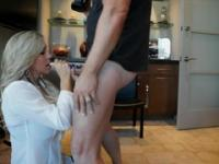Golden-haired aged female in blowjob sex movie
