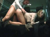 Christen Courtney gets fucked in the parking lot