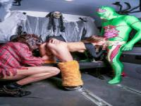 Lena Nitro and Lullu Gun fucked for Halloween