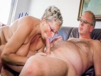 Mature Amateur German Angelika J. Cum in Mouth
