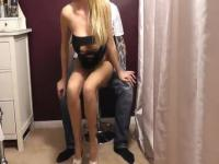 Amateur blonde turns her lover on