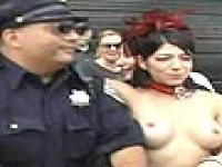 Cop Groped By Naked Chick