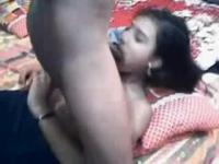 Indian girl sucking on webcam