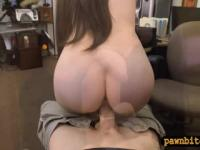 Brunette woman nailed by nasty pawn guy at the pawnshop