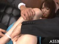 cute asian receives raucous toying for her snatch and anal