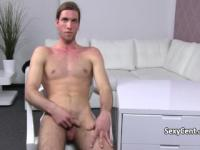 Hot brunette fucks dude on casting