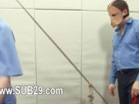 Ropes and toys in her deep asshole banged by a pig