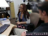 Sloppy asian blowjob College Student Banged in my pawn shop!