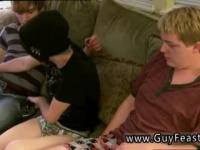 Emo young teen gay video Aron, Kyle and James are hanging out on the