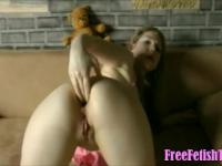German Girl Fisting and Gaping Ass on Webcam -
